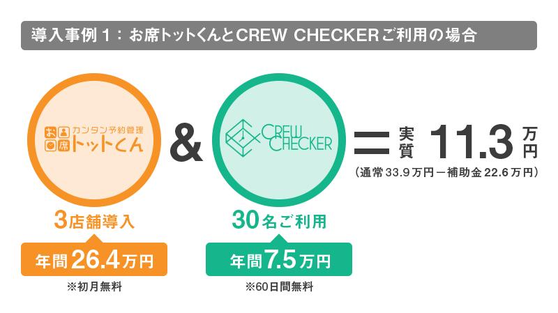 トットくんとCREWCHECKER導入の例